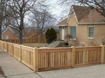 Charming Privacy Fence Design Ideas For You 19
