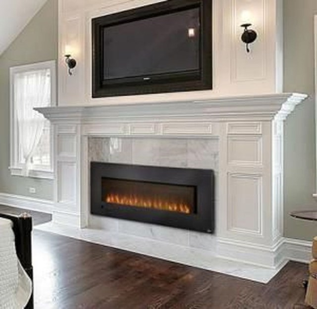 Luxury Clad Cover Fireplace Ideas To Try 26
