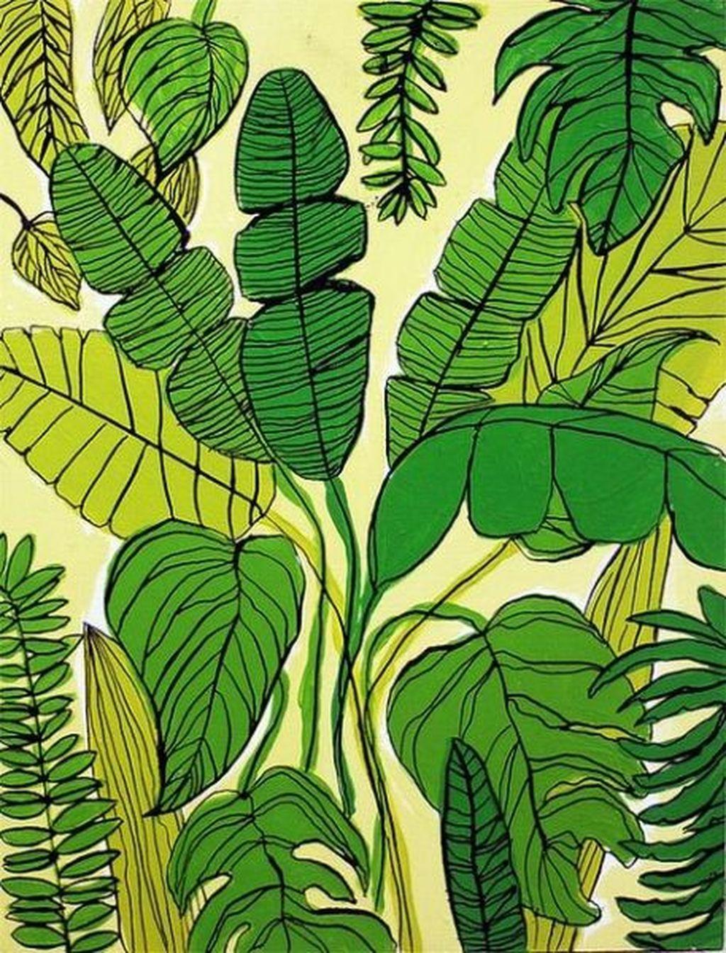 Splendid Tropical Leaf Decor Ideas For Home Design 20