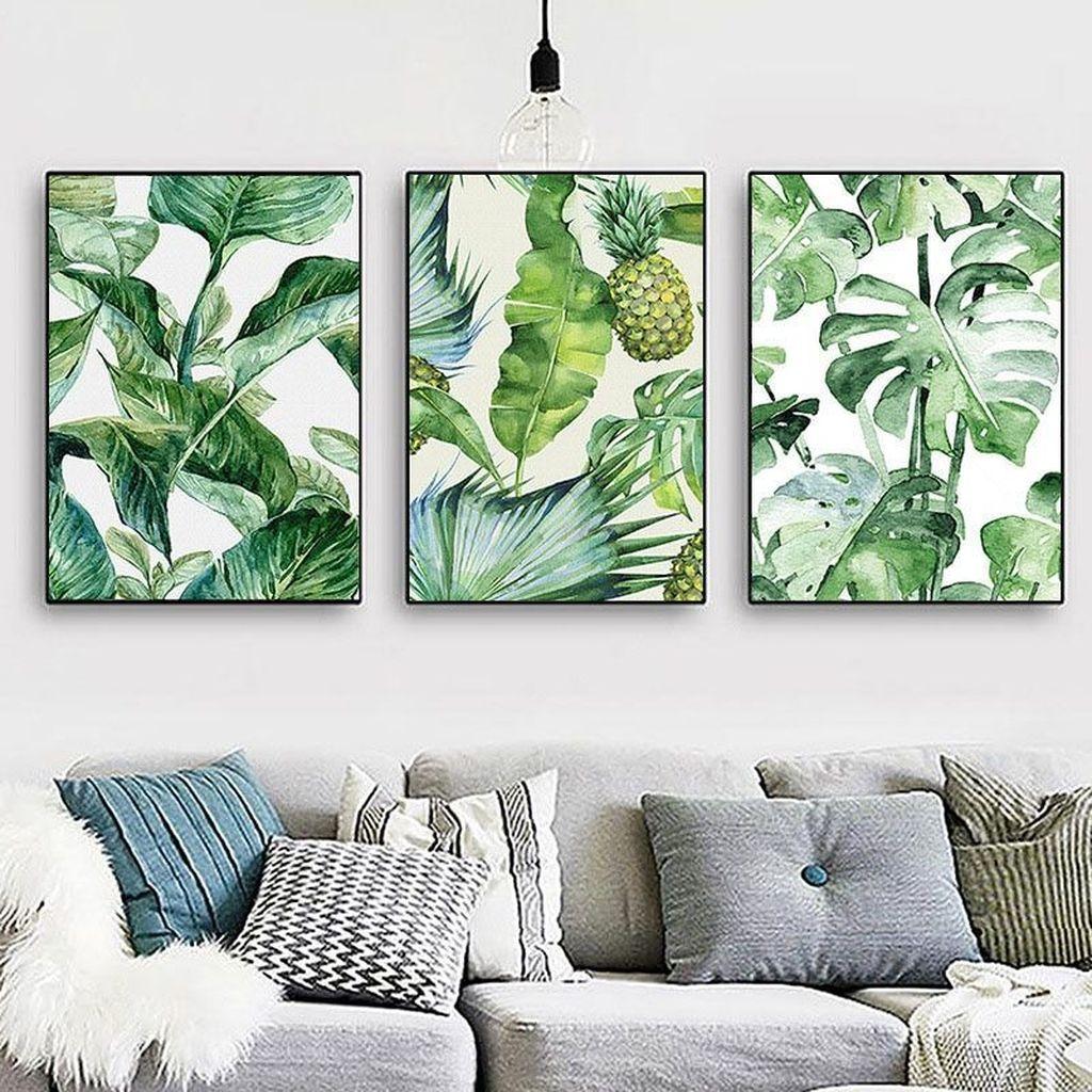 Splendid Tropical Leaf Decor Ideas For Home Design 29