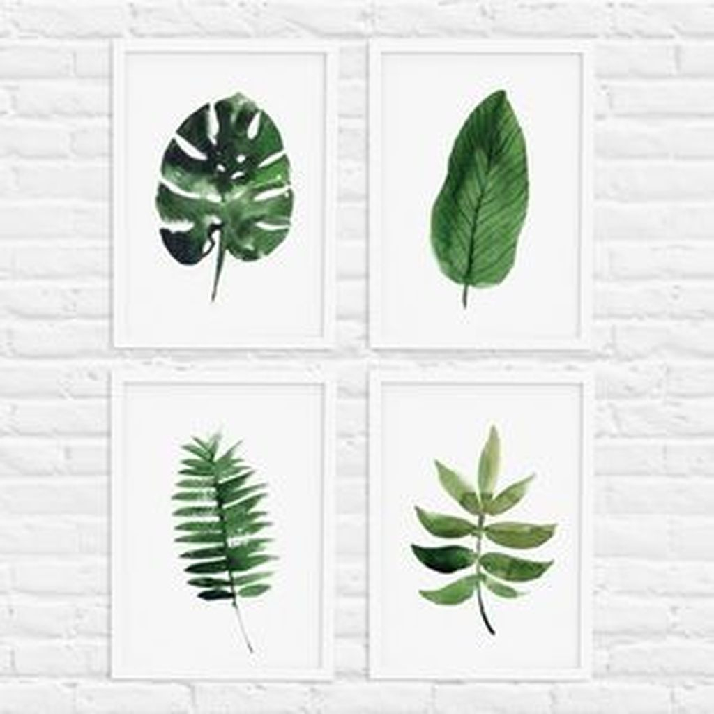 Splendid Tropical Leaf Decor Ideas For Home Design 36