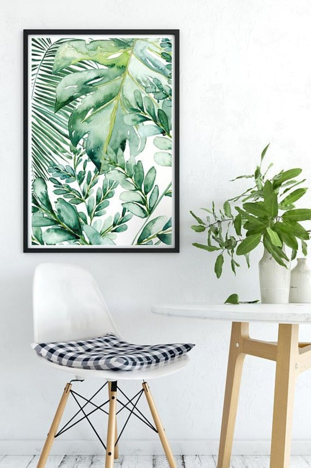 Splendid Tropical Leaf Decor Ideas For Home Design 45