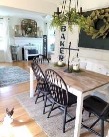 Adorable Fall Farmhouse Dining Room Decor Ideas 09
