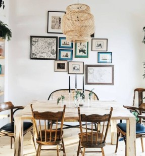 Adorable Fall Farmhouse Dining Room Decor Ideas 22