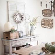 Adorable Fall Farmhouse Dining Room Decor Ideas 24