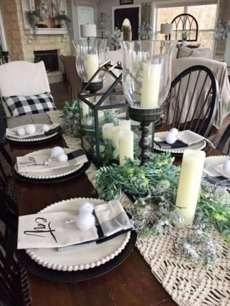 Adorable Fall Farmhouse Dining Room Decor Ideas 35