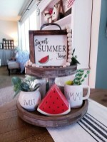 Elegant Summer Farmhouse Decor Ideas For Home 04