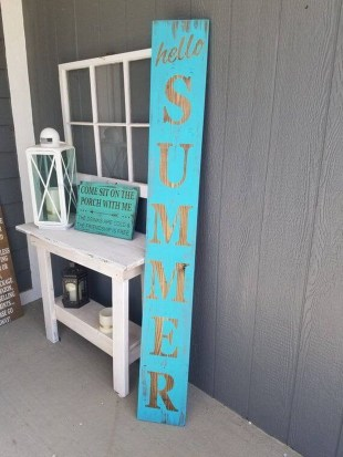 Elegant Summer Farmhouse Decor Ideas For Home 36