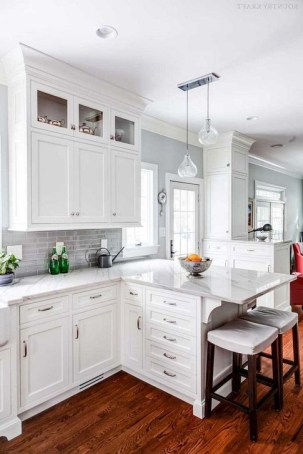 Fancy White Kitchen Cabinets Ideas To Try Asap 18