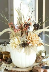 Rustic Diy Fall Centerpiece Ideas For Your Home Décor 02
