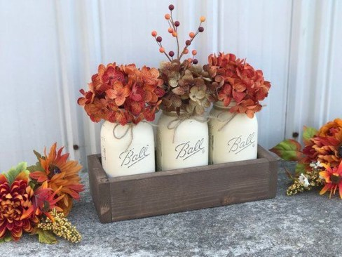 Rustic Diy Fall Centerpiece Ideas For Your Home Décor 24