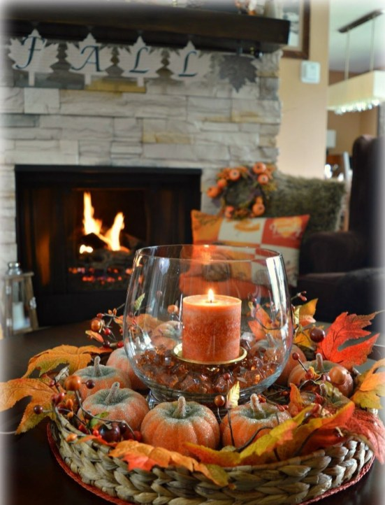Rustic Diy Fall Centerpiece Ideas For Your Home Décor 28