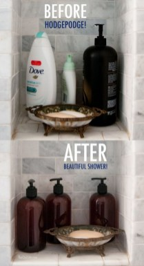 Affordable Diy Organization Bathroom Design Ideas For Bottle And Towel Labels18