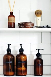 Affordable Diy Organization Bathroom Design Ideas For Bottle And Towel Labels21