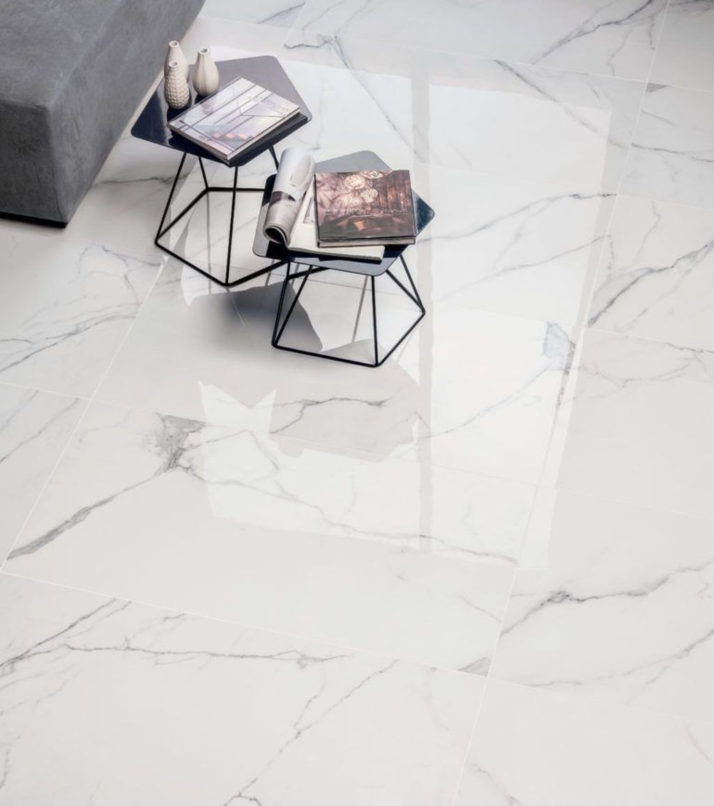 Affordable Marble Tiles Design Ideas In The Wooden Floor30