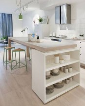 Amazing Scandinavian Kitchen Design Ideas With Island And Cabinets To Try08