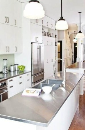 Amazing Scandinavian Kitchen Design Ideas With Island And Cabinets To Try12