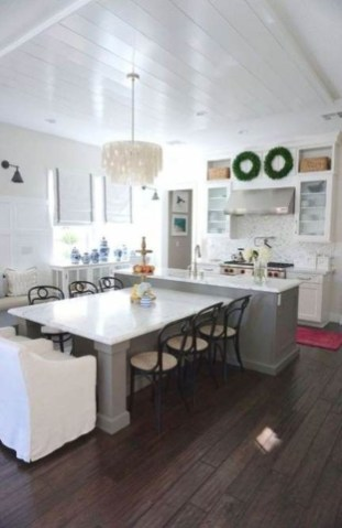Amazing Scandinavian Kitchen Design Ideas With Island And Cabinets To Try36