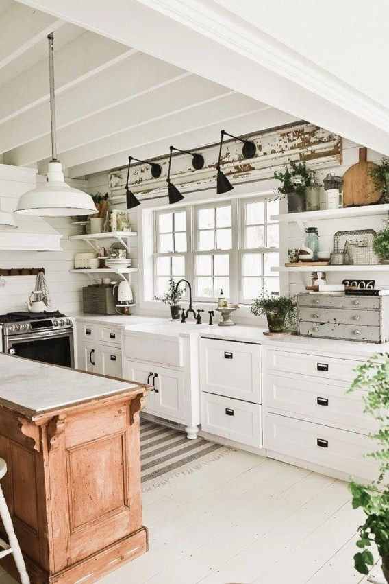 Amazing Scandinavian Kitchen Design Ideas With Island And Cabinets To Try37