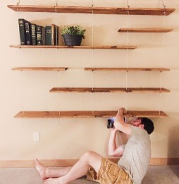 Awesome Diy Turnbuckle Shelf Ideas To Beautify Interior Decor04