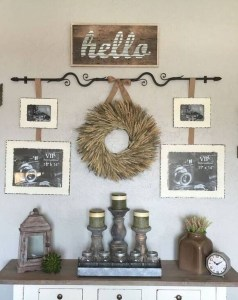 Casual Diy Farmhouse Wall Decorations Ideas On A Budget 05