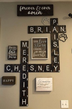 Casual Diy Farmhouse Wall Decorations Ideas On A Budget 40