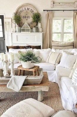 Popular Farmhouse Living Room Makeover Decor Ideas To Have Now 06