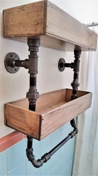Rustic Diy Industrial Pipe Shelves Design Ideas For You 02