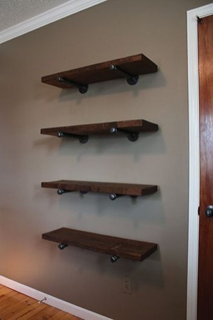 Rustic Diy Industrial Pipe Shelves Design Ideas For You 25