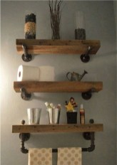 Rustic Diy Industrial Pipe Shelves Design Ideas For You 28