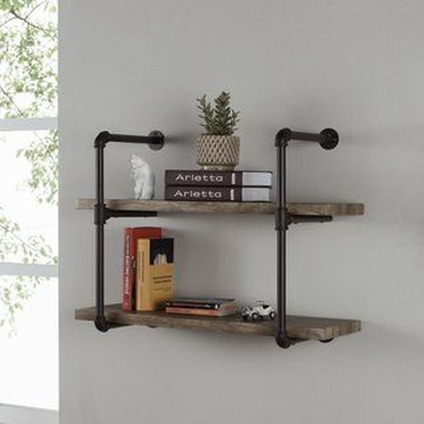 Rustic Diy Industrial Pipe Shelves Design Ideas For You 34