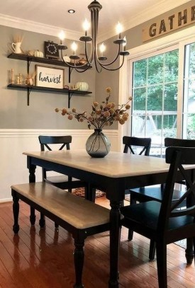 Splendid Dining Room Design Ideas With Farmhouse Table To Have 27