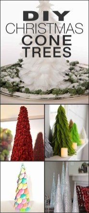 Dreamy Diy Christmas Cone Trees Design Ideas To Try Today 27