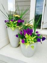 Dreamy Front Door Flower Pots Design Ideas To Increase Your Home Beauty 09