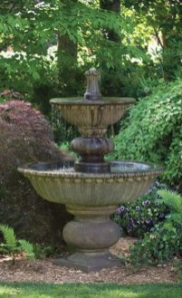 Affordable Small Front Garden Design Ideas With Fountain To Try 10