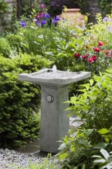 Affordable Small Front Garden Design Ideas With Fountain To Try 20