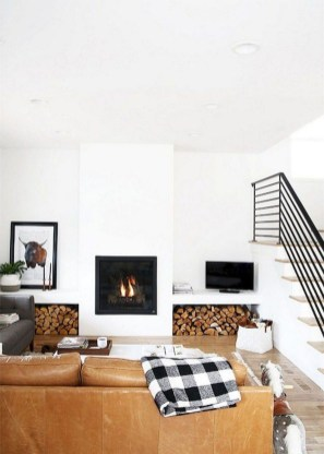 Cool Scandinavian Fireplace Design Ideas To Amaze Your Guests 08