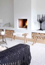 Cool Scandinavian Fireplace Design Ideas To Amaze Your Guests 24