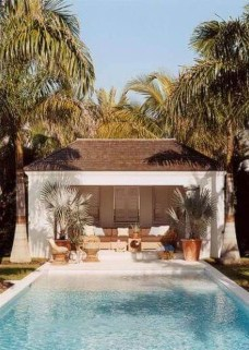 Cute Cabana Swimming Pool Design Ideas That Looks Charming 21