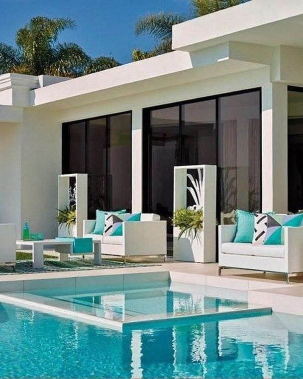 Cute Cabana Swimming Pool Design Ideas That Looks Charming 28
