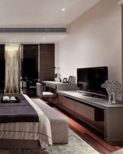 Enjoying Bedroom Design Ideas With Wall Tv To Try 04