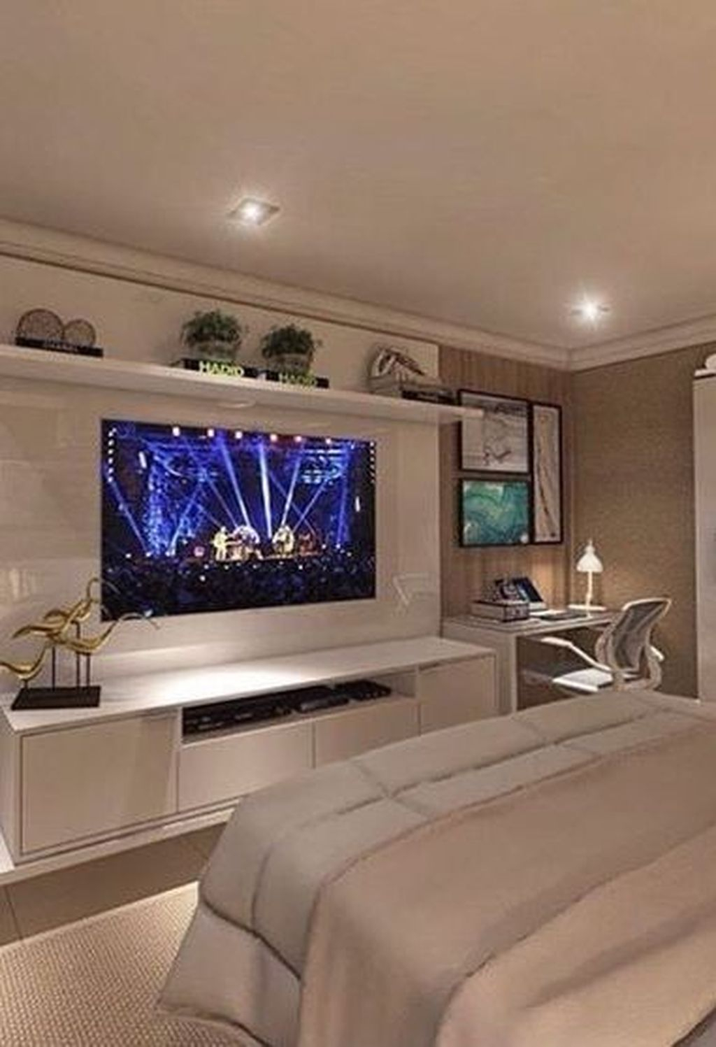 Enjoying Bedroom Design Ideas With Wall Tv To Try 12