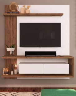Enjoying Bedroom Design Ideas With Wall Tv To Try 28