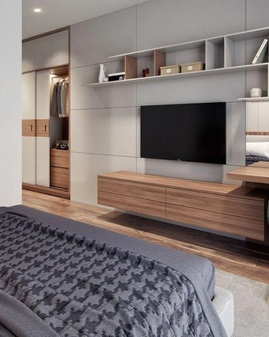 Enjoying Bedroom Design Ideas With Wall Tv To Try 33