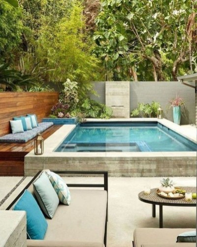 Flawless Small Pool Landscaping Design Ideas For Enchanting Home Outside 29