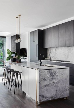 Luxury Grey Kitchen Backsplash Design Ideas For Your Inspiration 06