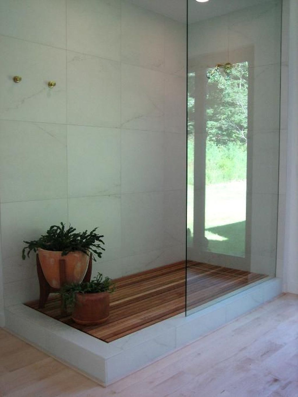 Marvelous Wooden Shower Floor Tiles Designs Ideas For Bathroom Remodel 11