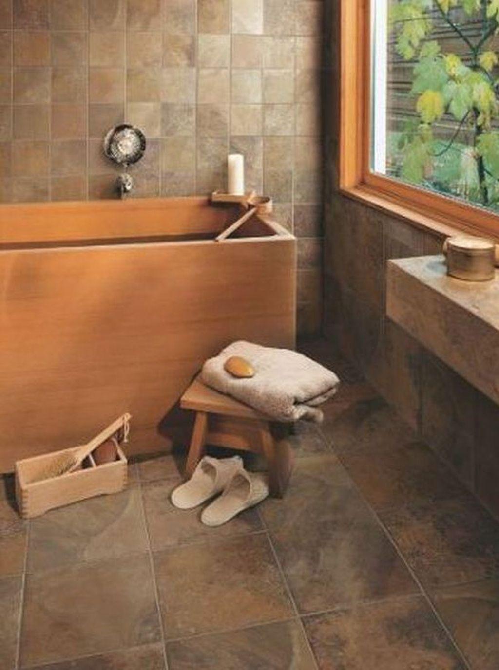 Marvelous Wooden Shower Floor Tiles Designs Ideas For Bathroom Remodel 15