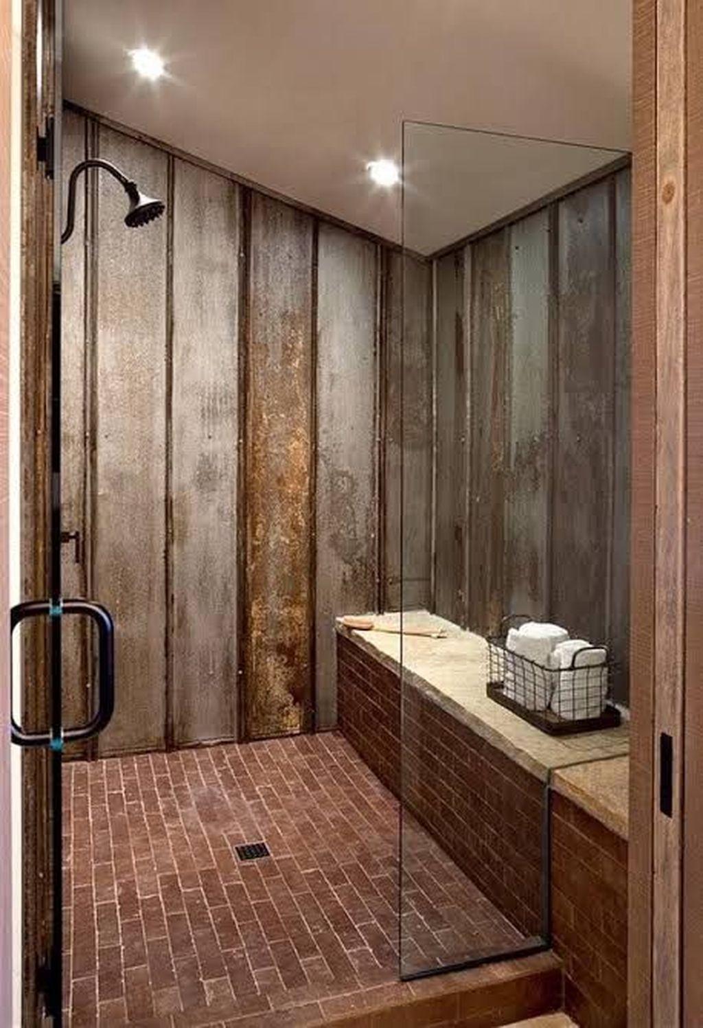 Marvelous Wooden Shower Floor Tiles Designs Ideas For Bathroom Remodel 35