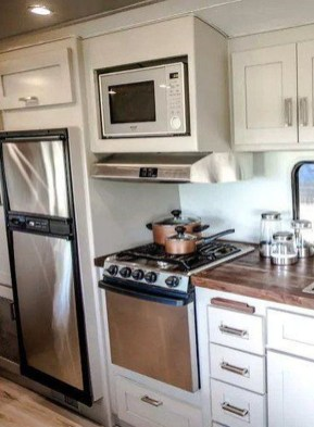 Relaxing Rv Kitchen Design Ideas For More Comfortable Cooking During The Holiday 30